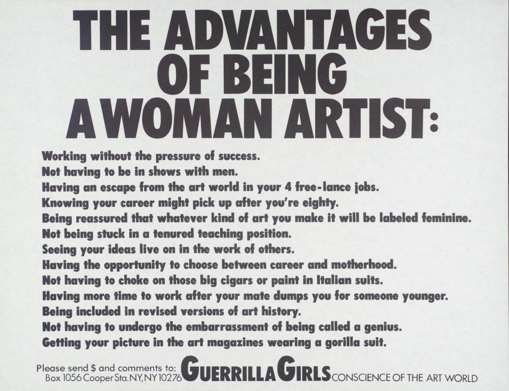 guerrila girls ventajas
