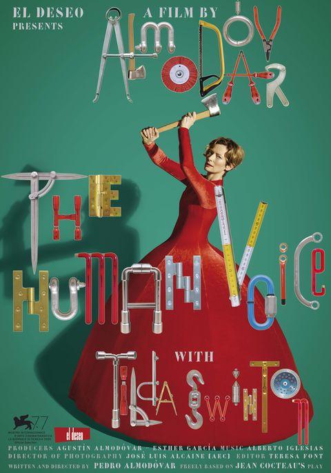 Cartel de 'La voz humana', protagonizado por Tilda Swinton y dirigido por Pedro Almodóvar